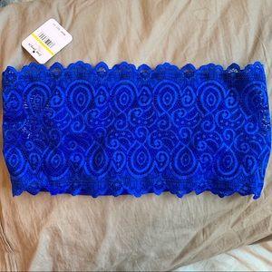 NWT Royal Blue Bandeau